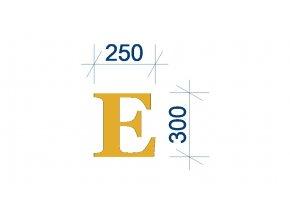 písmeno E obrázek