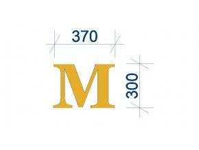 písmeno M obrázek