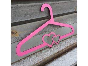 ramínko dvě srce růžová 2