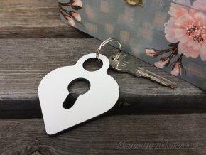 klíčenka zámek srdce (2)