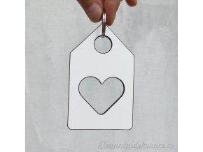 srdce domova klíčenka