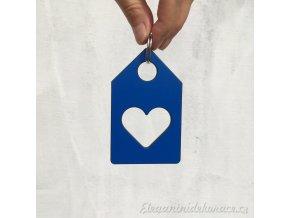klíčenka domek modrá