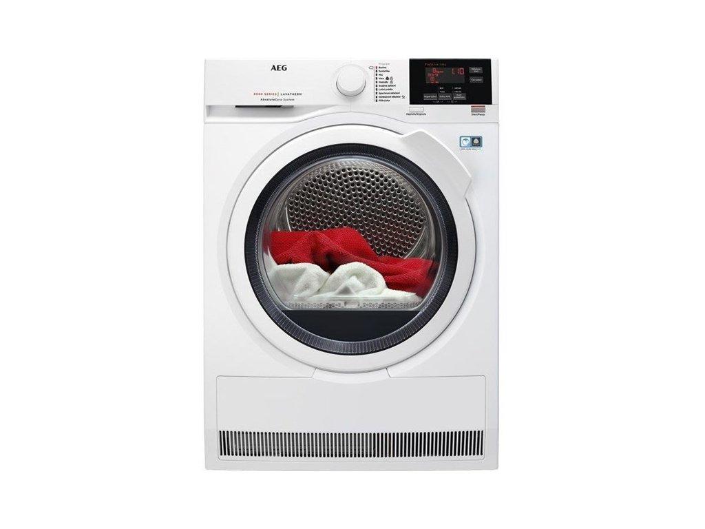 Sušička prádla AEG AbsoluteCare® T8DBG48WC  CASHBACK 1500 Kč zpět do 15. dubna. Více na https://www.aeg.cz/local/promotions/zbavte-se-stereotypu/