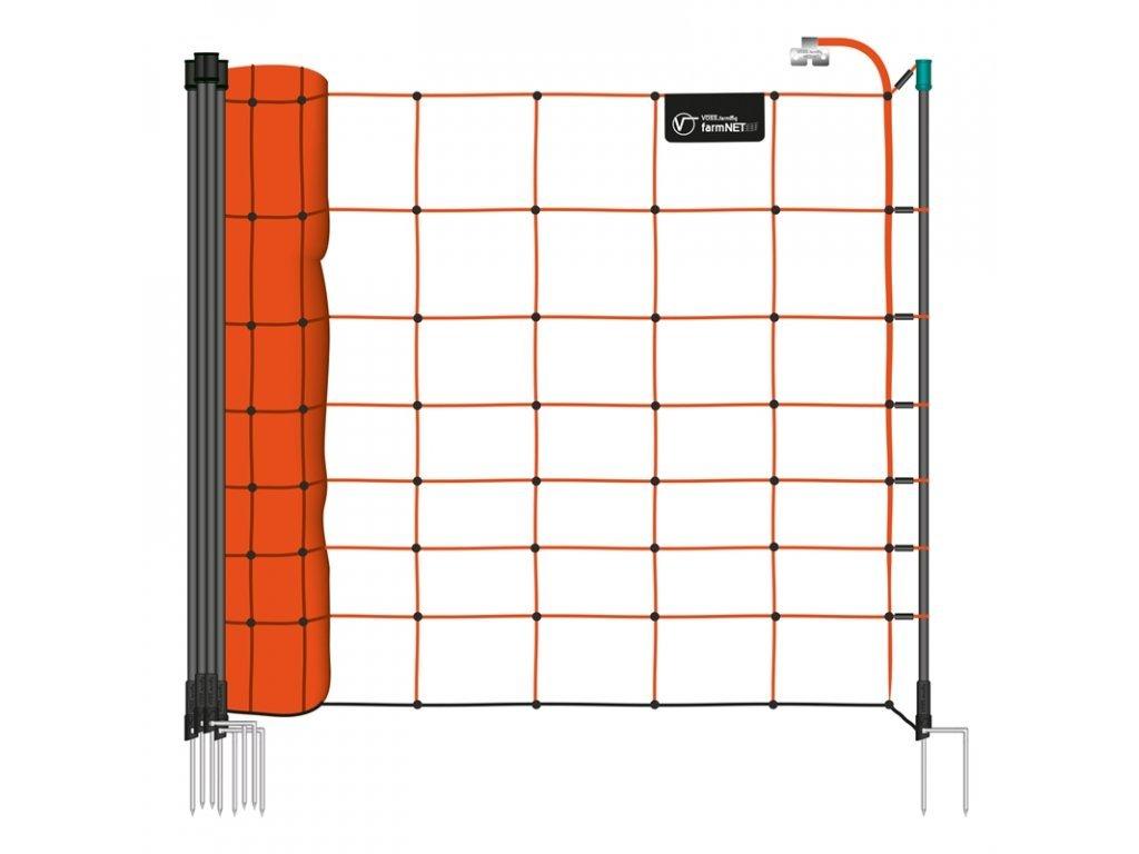 Síť ohradníku, pro ovce, výška 90 cm, 50 m, 14 tyčí, oranžová