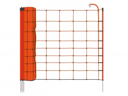 Síť ohradníku, pro ovce, výška 90 cm, 50 m, 14 tyčí, oranžová Basic