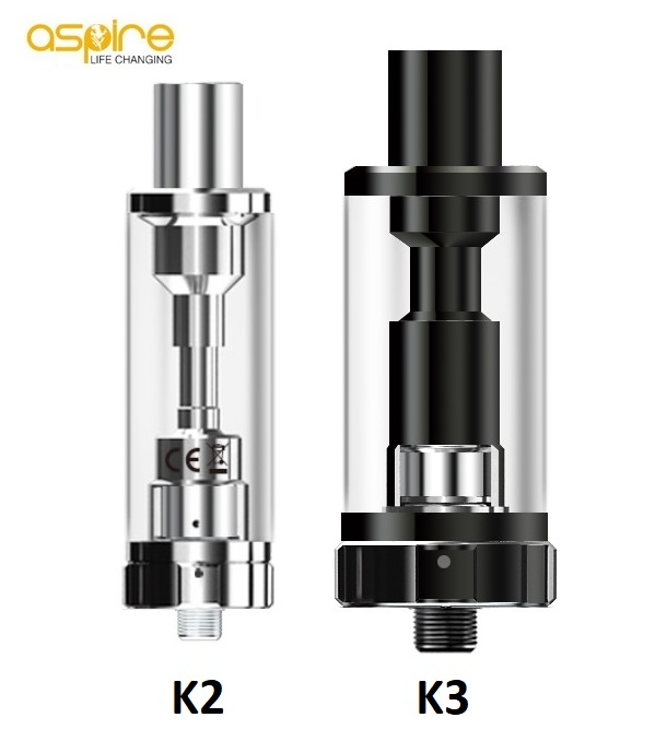 Clearomizér aSpire K2 a K3