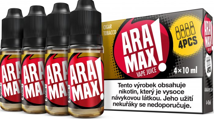 E-liquidy ARAMAX 4Pack 4x10ml 3mg