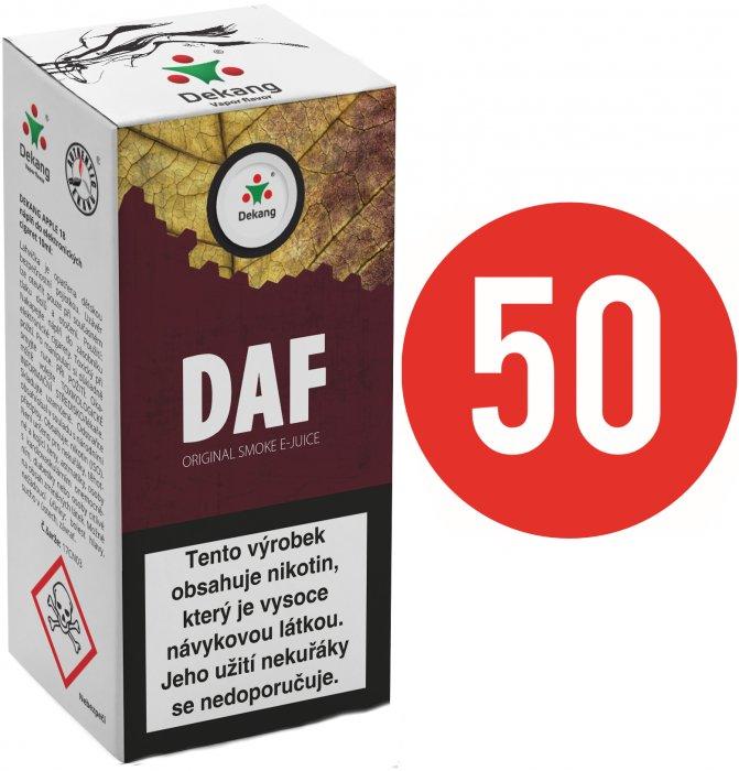 Tabákové e-liquidy Dekang Fifty 10ml