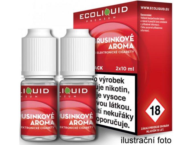 e liquid ecoliquid premium 2pack cranberry 2x10ml brusinka