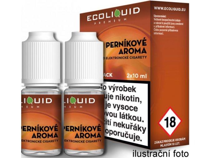 e liquid ecoliquid premium 2pack gingerbread tobacco 2x10ml pernikovy tabak