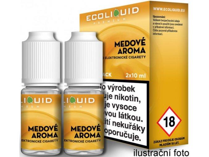 e liquid ecoliquid premium 2pack honey 2x10ml med