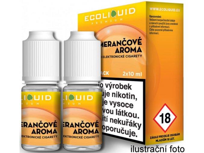 e liquid ecoliquid premium 2pack orange 2x10ml pomeranc
