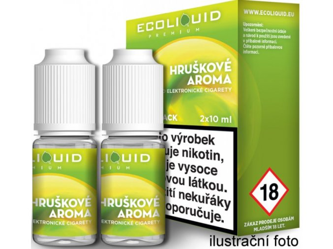 e liquid ecoliquid premium 2pack pear 2x10ml hruska