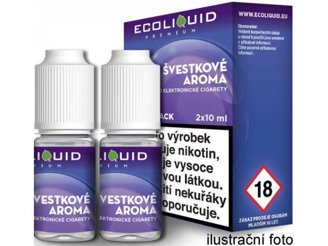 e liquid ecoliquid premium 2pack plum 2x10ml svestka