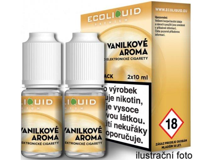 e liquid ecoliquid premium 2pack vanilla 2x10ml vanilka