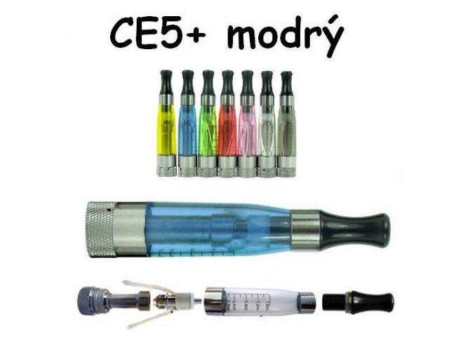 Clearomizér CE5+ modrý s dlouhým knotem