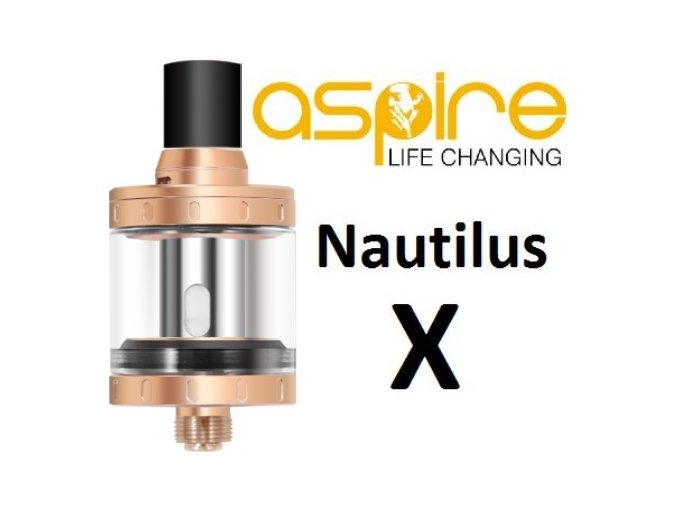 clearomizer aspire nautilus x zlaty gold 2ml