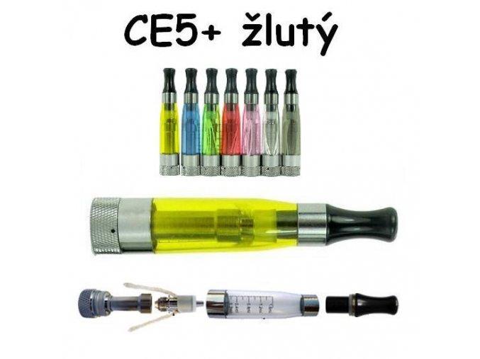 Clearomizér CE5+ žlutý s dlouhým knotem