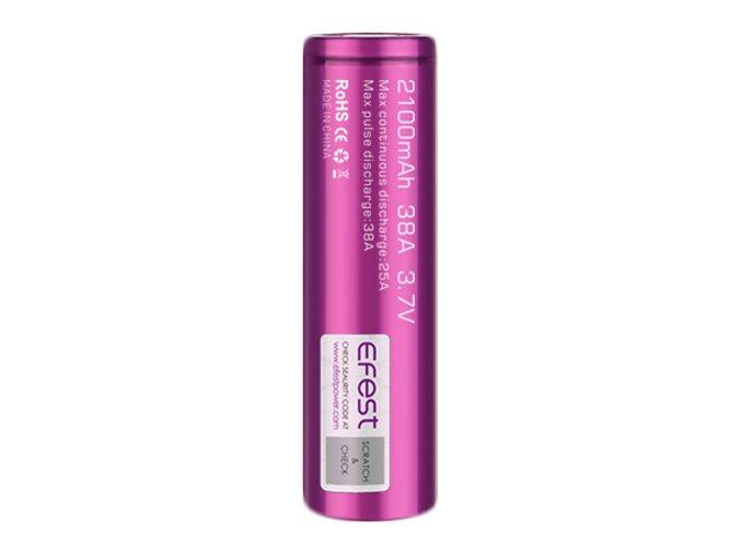 baterie 18650 efest 2100mah 38a