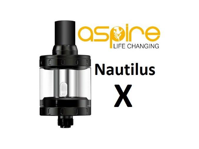 aSpire Nautilus X clearomizér 2ml černý