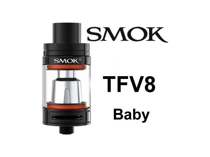 Smoktech TFV8 Baby clearomizér černý
