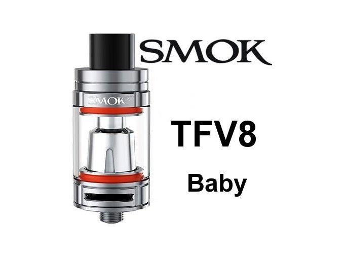 Smoktech TFV8 Baby clearomizér nerez