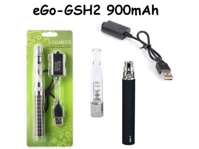 Elektronická cigareta eGo-GSH2 900mAh černá 1ks