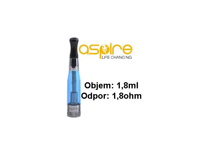 aspire ce5 bvc clearomizer 18ohm 18ml blue modry