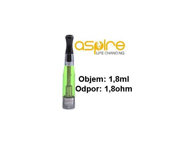 aspire ce5 bvc clearomizer 18ohm 18ml green zeleny