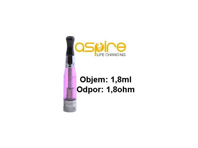 aspire ce5 bvc clearomizer 18ohm 18ml purple fialovy