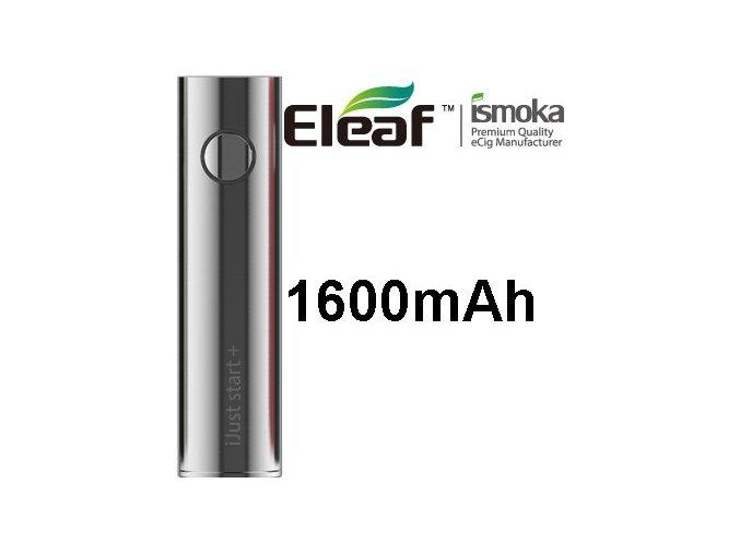ismoka eleaf ijust start plus baterie 1600mah stribrna