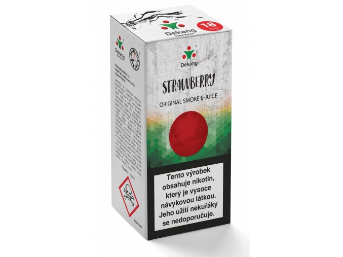 e liquid dekang 10ml strawberry jahoda