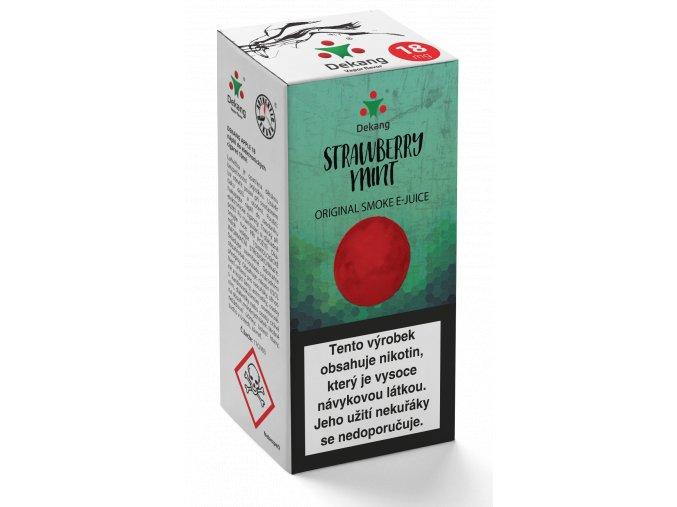e liquid dekang 10ml strawberry mint jahoda s matou