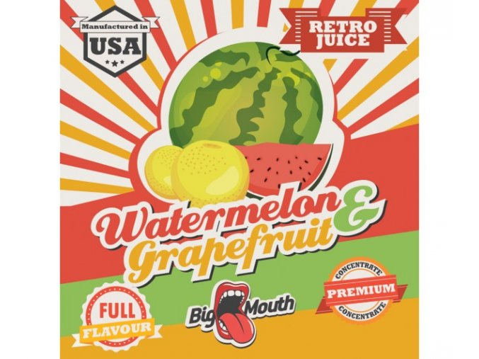 prichut aroma na michani do bazi big mouth retro juice 10ml watermelon a grapefruit