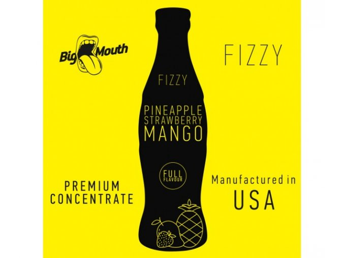 prichut aroma na michani do baze big mouth fizzy 10ml pineapple strawberry mango