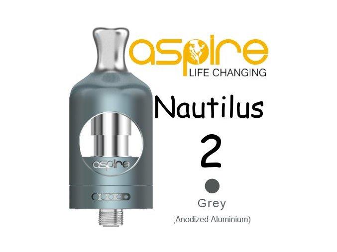 aspire nautilus 2 clearomizer 2ml sedy grey