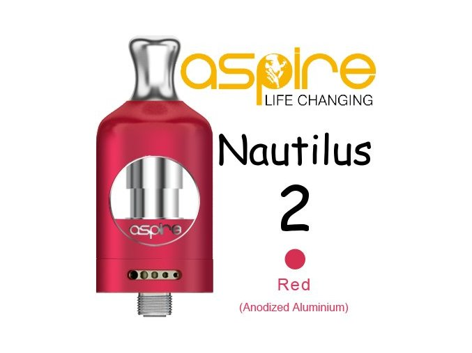 aspire nautilus 2 clearomizer 2ml cerveny red