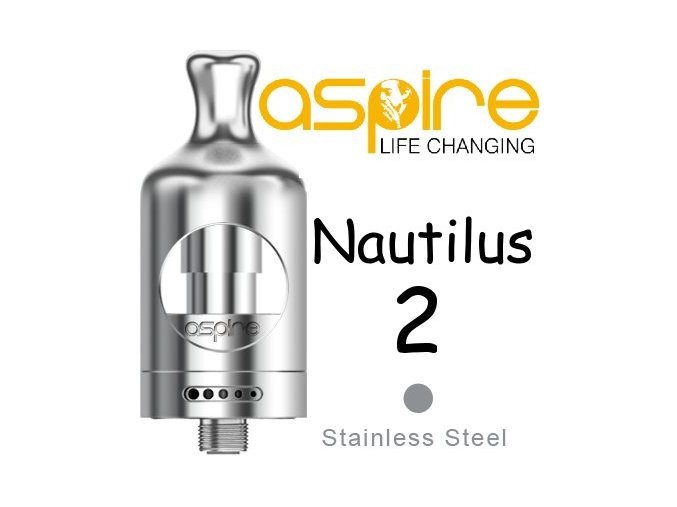 aspire nautilus 2 clearomizer 2ml stribrny silver