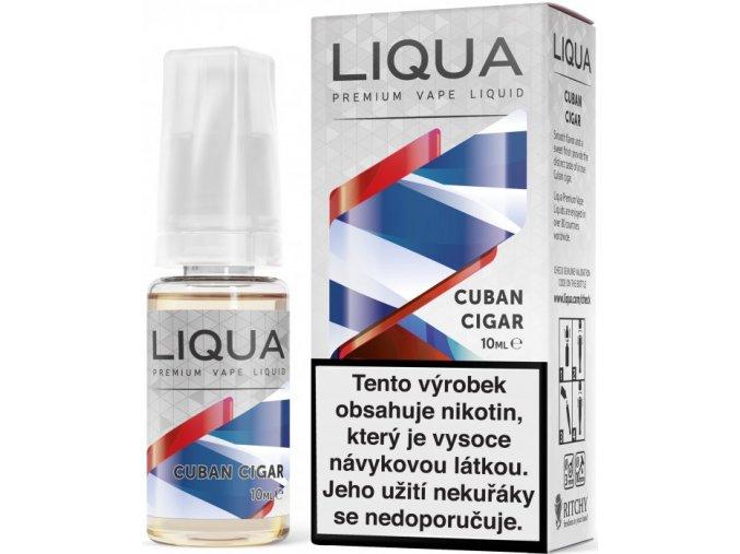 liqua e liquid elements cuban cigar tobacco 10ml kubansky doutnik