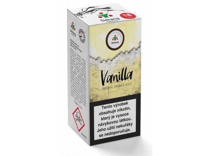 e liquid dekang 10ml vanilla vanilka
