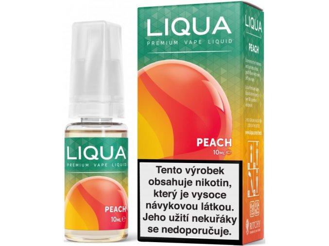 liqua e liquid elements peach 10ml broskev