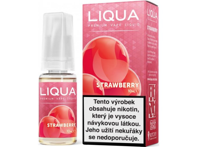 liqua e liquid elements strawberry 10ml jahoda