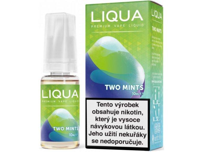 liqua e liquid elements two mints 10ml chut maty a mentolu