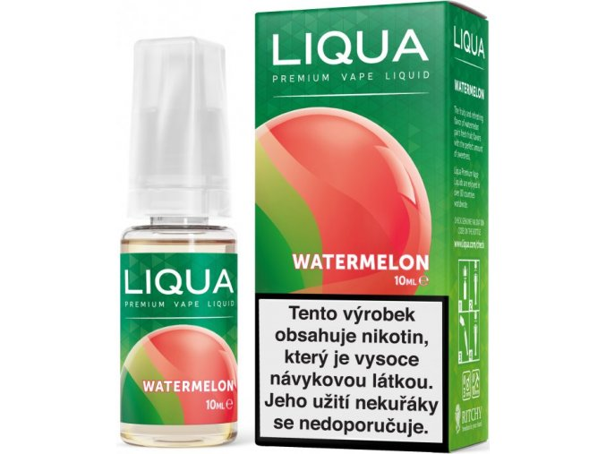 liqua e liquid elements watermelon 10ml vodni meloun