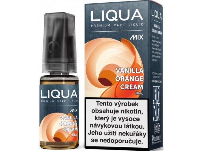 e liquid liqua mix vanilla orange cream 10ml pomerance s kremovou vanilkou