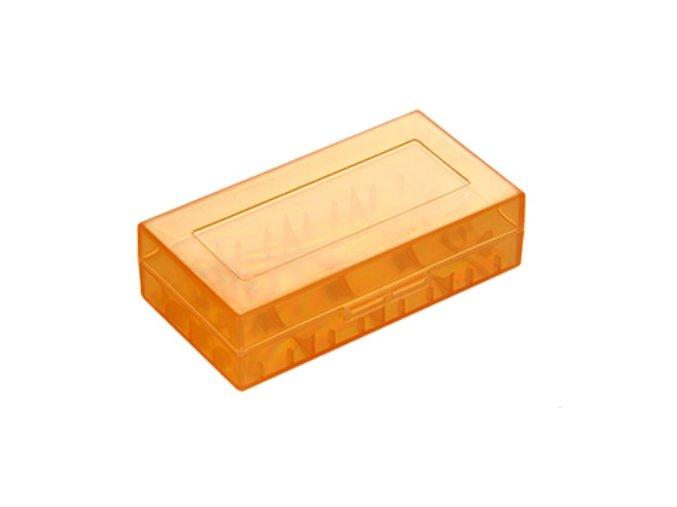 plastove pouzdro pro baterie 18650 18350 oranzove