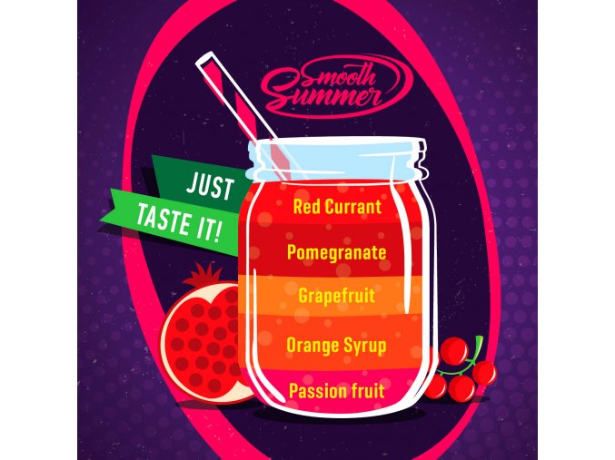 prichut aroma big mouth smooth summer granatove jablko a pomerancovy sirup