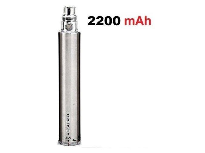 baterie ego c twist 2200mah regulace napeti nerezova