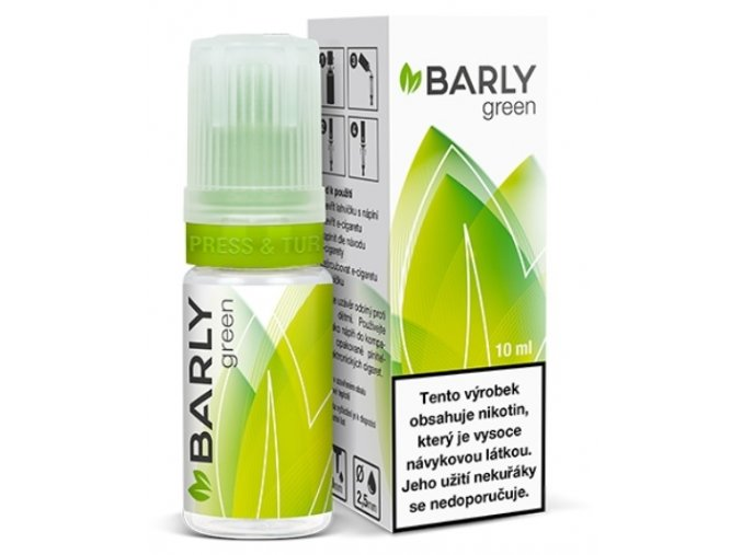 e liquid barly green 10ml tabak
