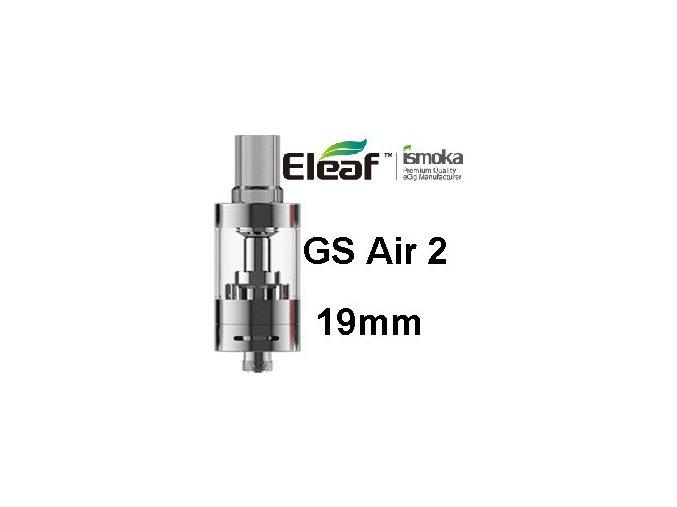 ismoka eleaf gs air 2 19mm clearomizer stribrny
